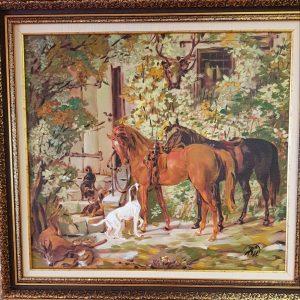 Картина с маслини бои – репродукция