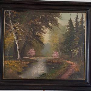 Картина с маслeни бои – R. Belma