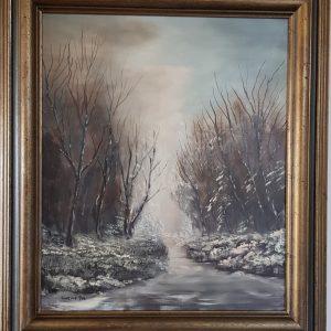 Картина с маслeни бои – Kerkhof