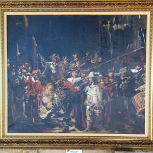 Картина с маслени бои – De Nachtwacht , Rembrandt van Rijn – репродукция