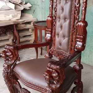Кралски стол ( King chair ) тиково дърво, НОВ, внос от Индонезия