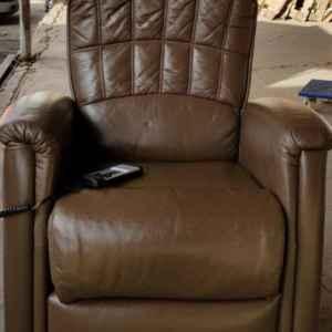 Стол-релакс с дистанционно управление,ест.кожа