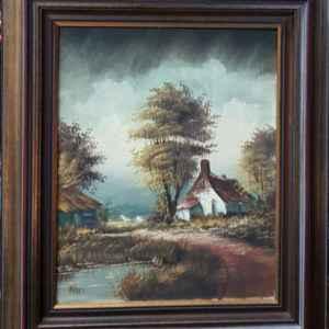 Картина с маслини бои на платно от H. PEELS ,Холандски майстор