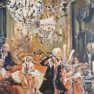 Картина с маслини бои на платно  – репродукция