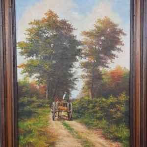 Картина с маслини бои на платно от известен холандски художник K. JANSEN, 1981