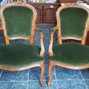 Кресло с подлакътник, дъб – дамаска,  внос от Холандия