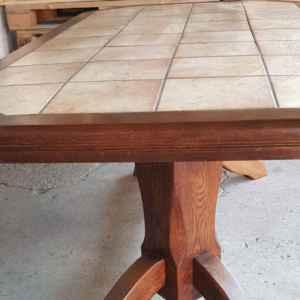 Трапезна маса дъб с плочки