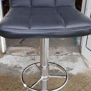 Бар – стол с облегалка с механизъм, метал – кожа