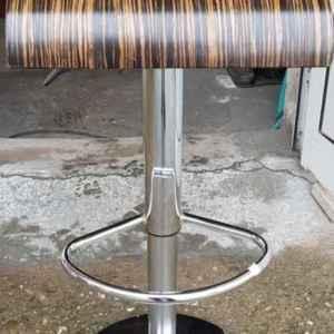 Бар стол с механизъм,  метал-дърво