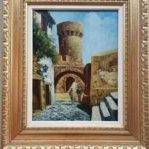 Картина с маслени бои на платно от известен испански художник Petra Martens, 20th century
