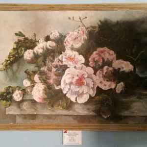 Картина с маслени бои на платно от холандски художник,  20th century, flowers – Holland