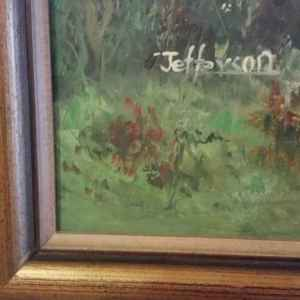 Картина с маслени бои на платно от известен английски  художник Jefferson,  20th century,  England