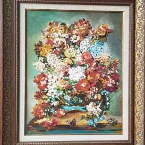Класическа картина на платно с маслени бои , мотив,  цветя – собствено производство – репродукция