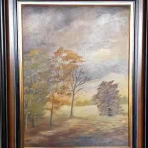 Картина с маслени бои на платно от известен белгийски художник , Cox – 1915 – 1974 год., Белгия