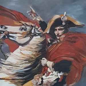 """Картина с мотив: """" Napolion crossing the Alps, Jacques David """" , 1793 – 1831 год., Франция  – Репродукция"""