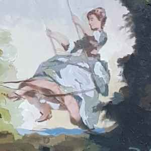 Картина с маслени бои на платно – The swing by Nikolas Lancret, 1690 – 1743, France  – Paris  , Репродукция