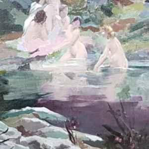 Картина с маслени бои на платно от Paul Francois Quinsac  – 1853-1932 год., France,  репродукция,  собствено производство