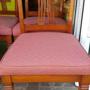 Комплект от четири броя трапезни столове, дъб – дамаска