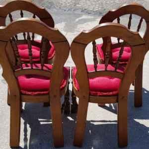 Комплект от четири броя трапезни столове – дъб, внос от Белгия