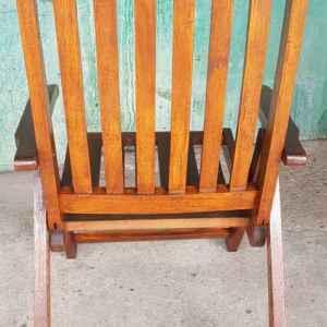 Градински сгъваем стол, дъб – масив, внос от Белгия
