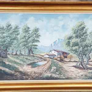 Картина с маслени бои на платно от A. Loos, внос от Нидерландия