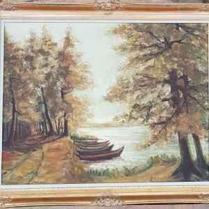 Картина с маслени бои на платно от Белгийски художник,  20th  century,  внос от Белгия от