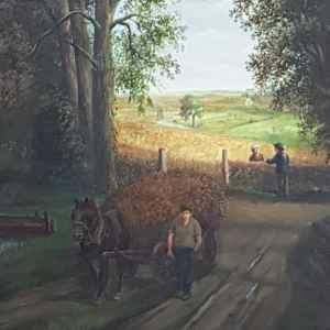Картина с маслени бои на платно от P. Ruislinck – внос от Белгия