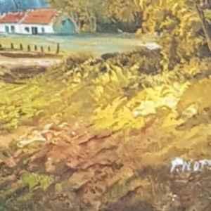 Картина с маслени бои на платно от P. Noten, внос от Нидерландия от