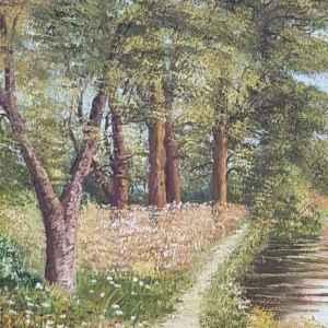 Картина с маслени бои на платно от L. HOOGDONK , внос от Нидерландия