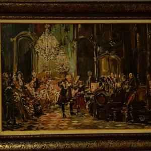 Картина с маслени бои на платно – симфония,  репродукция,  собствено производство