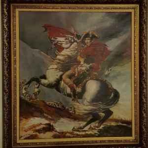 Картина с маслени бои на платно, Наполеон Бонапарт, репродукция,  собствено производство