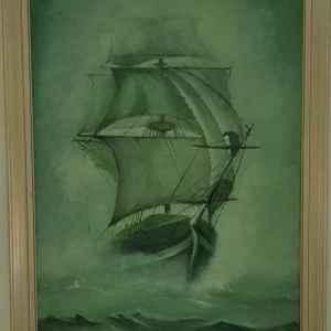 Картина в зелено, постер, внос от Белгия