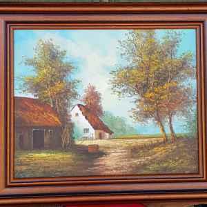 Картина с маслени бои на платно, A.Udink , 1996 год., внос от Нидерландия