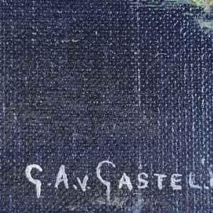Картина с маслени бои на платно от G.A.v.Gastel , 1989 , внос от Нидерландия
