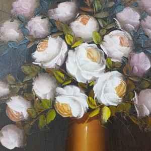 Картина с маслени бои на платно от А. Julia, still life, 20th century,  внос от Нидерландия