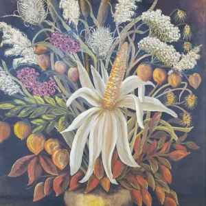 Картина с маслени бои на платно – still life ,L.v.d Vorle, произведена през 1988 год., внос от Нидерландия.