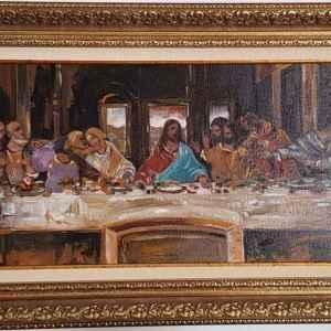 """Картина с маслени бои на платно, """"Тайната Вечеря"""", репродукция,  собствено производство"""
