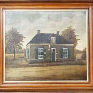 Картина с маслени бои на платно от Jan v.Tilburg, 1984, Нидерландия