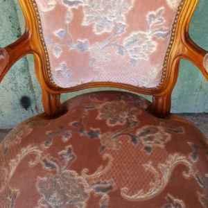 Фотьойл стил Луи 14-ти,  розов, внос от Белгия
