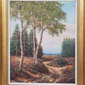 Картина с маслени бои на платно от А.Deliers, 20th century,  внос от Белгия