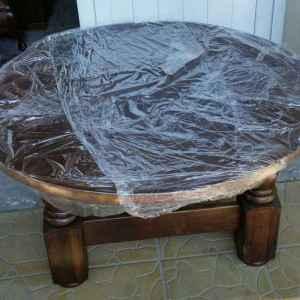 Холна маса-кръгла с четири крака, дъб