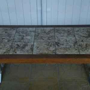 Холна маса – правоъгълна, дъб-плочки с метални крака