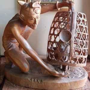 Декорация от дъб, дърворезба,  ръчна изработка,  внос от Белгия
