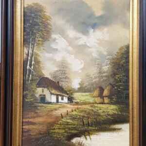 Картина с маслени бои на платно от нидерландски художник, 20th century,  внос от Нидерландия