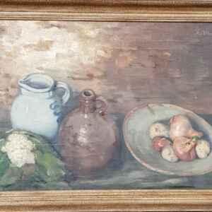 Картина с маслени бои на платно от A.v.Tilburg, внос от Нидерландия
