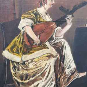 Картина с маслени бои на платно от E.Dobzal, 20th century,  внос от Нидерландия