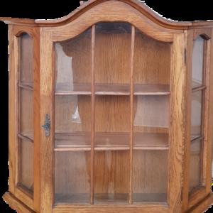 Шкафче за стена, дъб-стъкло, внос от Нидерландия