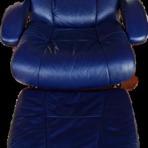 Кресло-релакс от естествена кожа  комплект с столче за крака, внос от Нидерландия