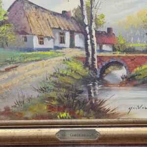 Картина с маслени бои на платно от G. Quidousse 1938-1998,  20th century,  внос от Белгия