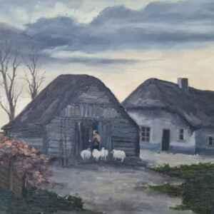 Картина с маслени бои на платно,  Unknown painter,  20th century,  внос от Нидерландия